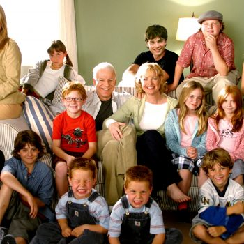 Hilary Duff reunited with the original <em>Cheaper By The Dozen</em> cast to recreate classic scenes