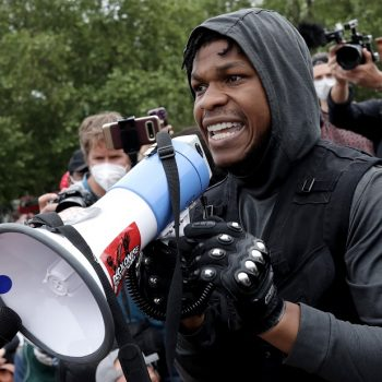 Hollywood is rallying behind <em>Star Wars</em>' John Boyega after his passionate protest speech