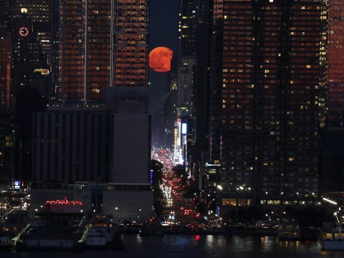 full strawberry moon in new york city