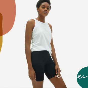 Everlane just launched its first bike shorts and they look so cozy