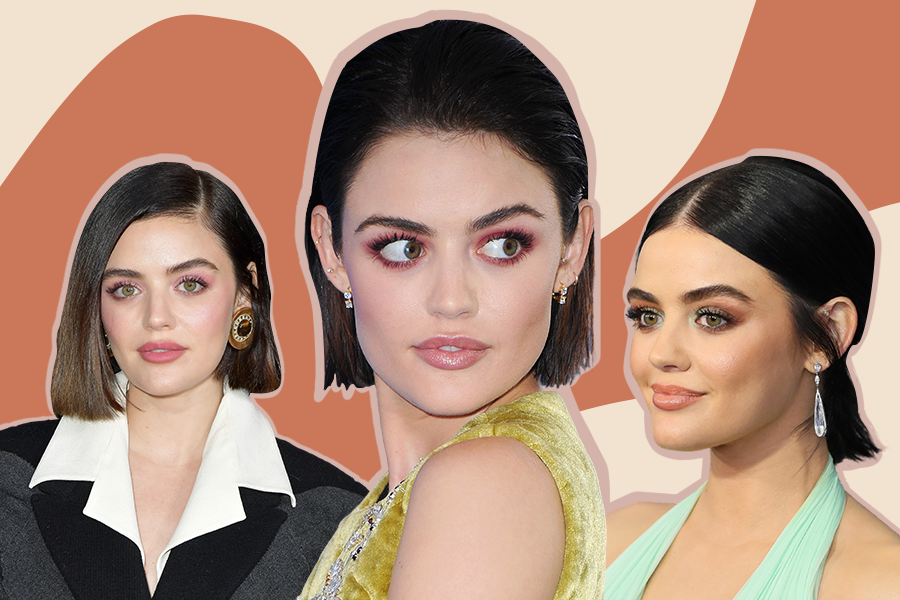 "Lucy Hale's 16 best beauty looks, from her ""girl next door"" makeup to her slicked-back bobs"